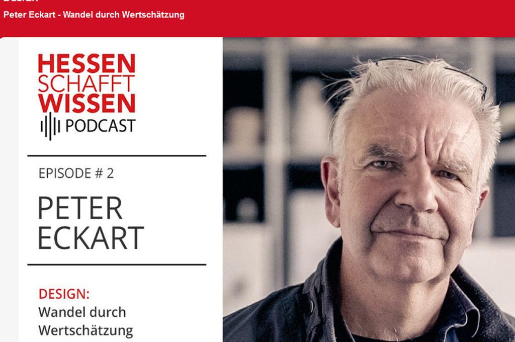 Hessen schafft Wissen - Podcast zu Design mit Peter Eckart von der HfG Offenbach