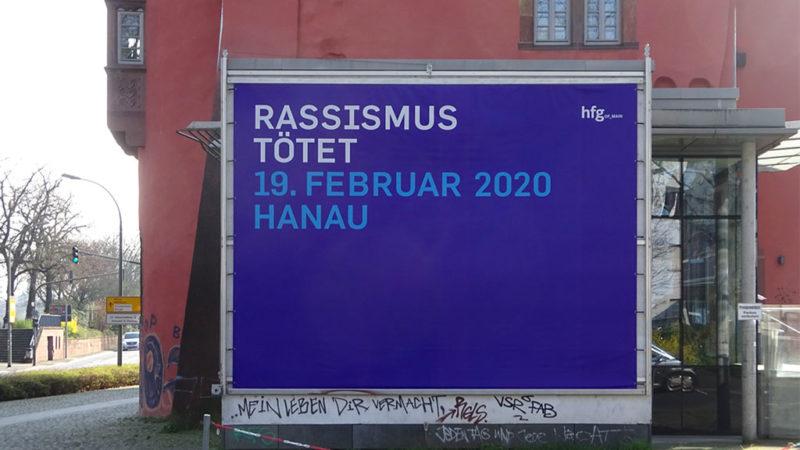 HfG Offenbach - Plakat: Rassismus tötet - 19. Februar 2020 Hanau