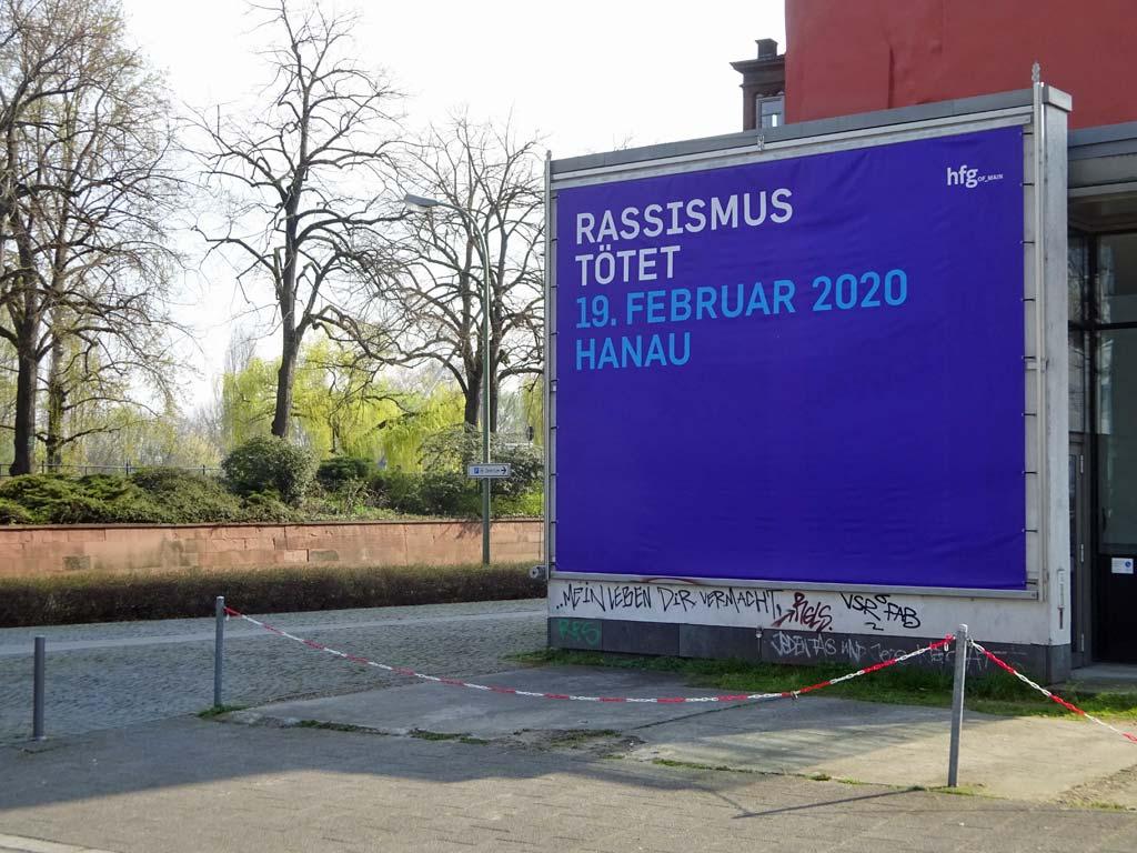 HfG Offenbach - Rassismus tötet - 19. Februar 2020 Hanau