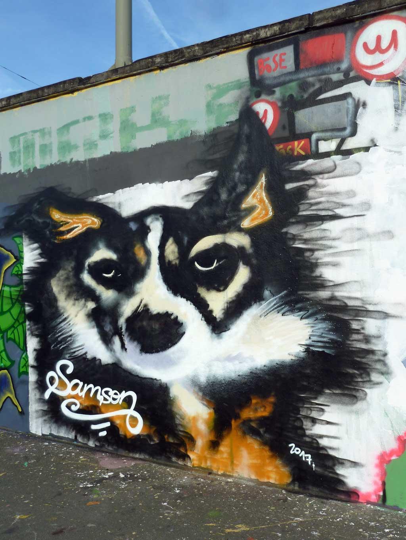 Graffiti eines Hundes