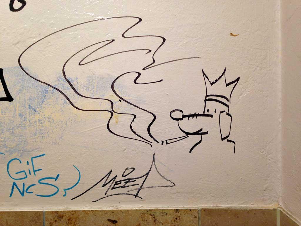 Skizze mit Marker - Hund mit Krone