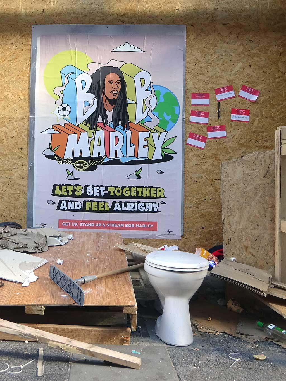 Ich wünschte hier wäre Bob Marley