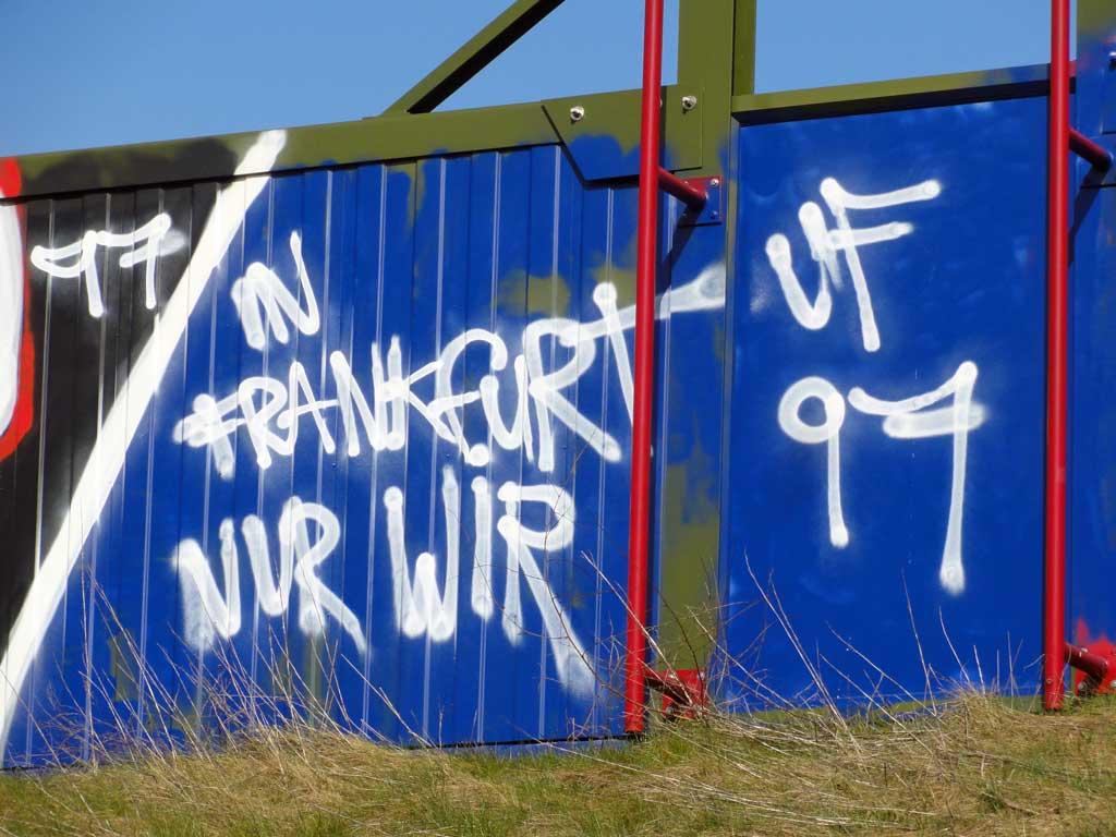 In Frankfurt nur wir