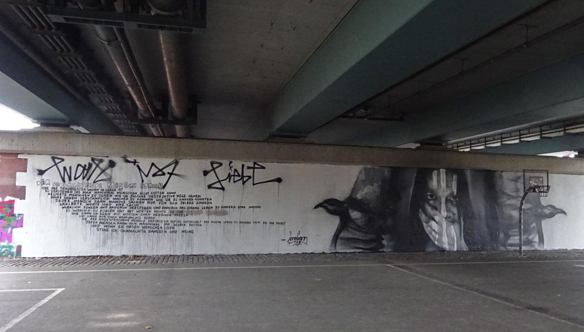Mural Art in Frankfurt: Indian - Was ist Liebe?