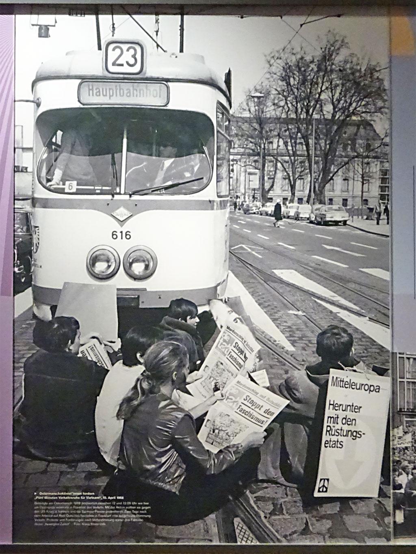 Frankfurt in den 1960er Jahren - Ostermarschaktivisten (1968)