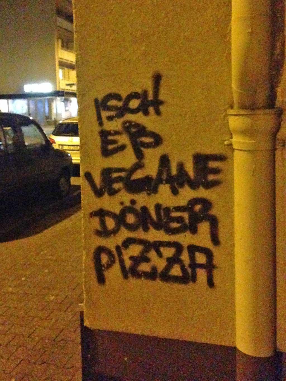 Ich ess vegane Döner Pizza
