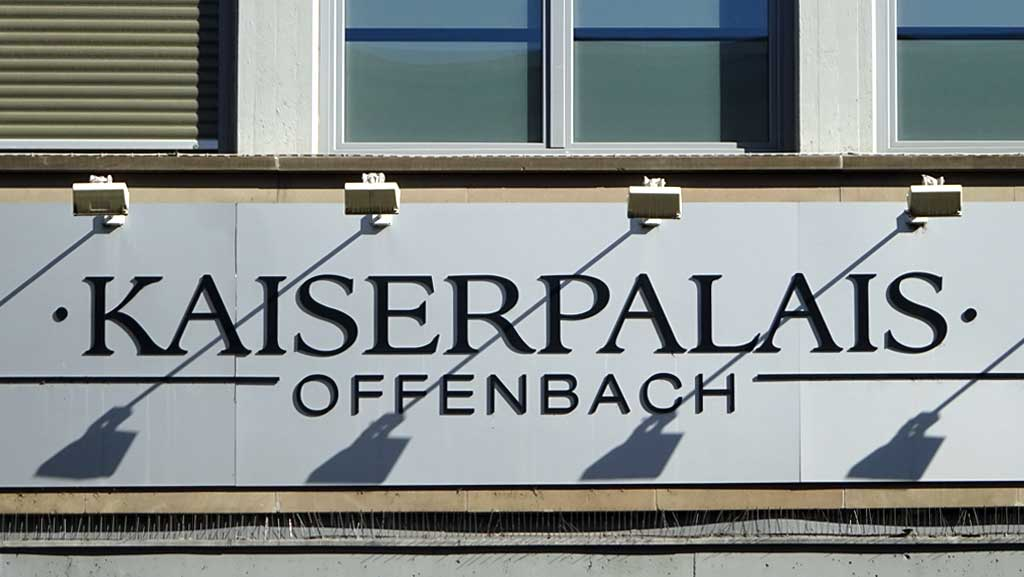 Typografie in Offenbach - Kaiserpalais Offenbach