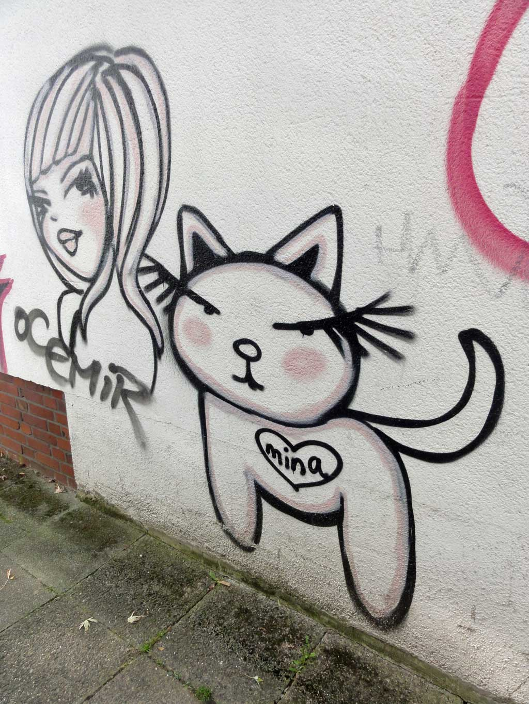 Streetart mit Katze