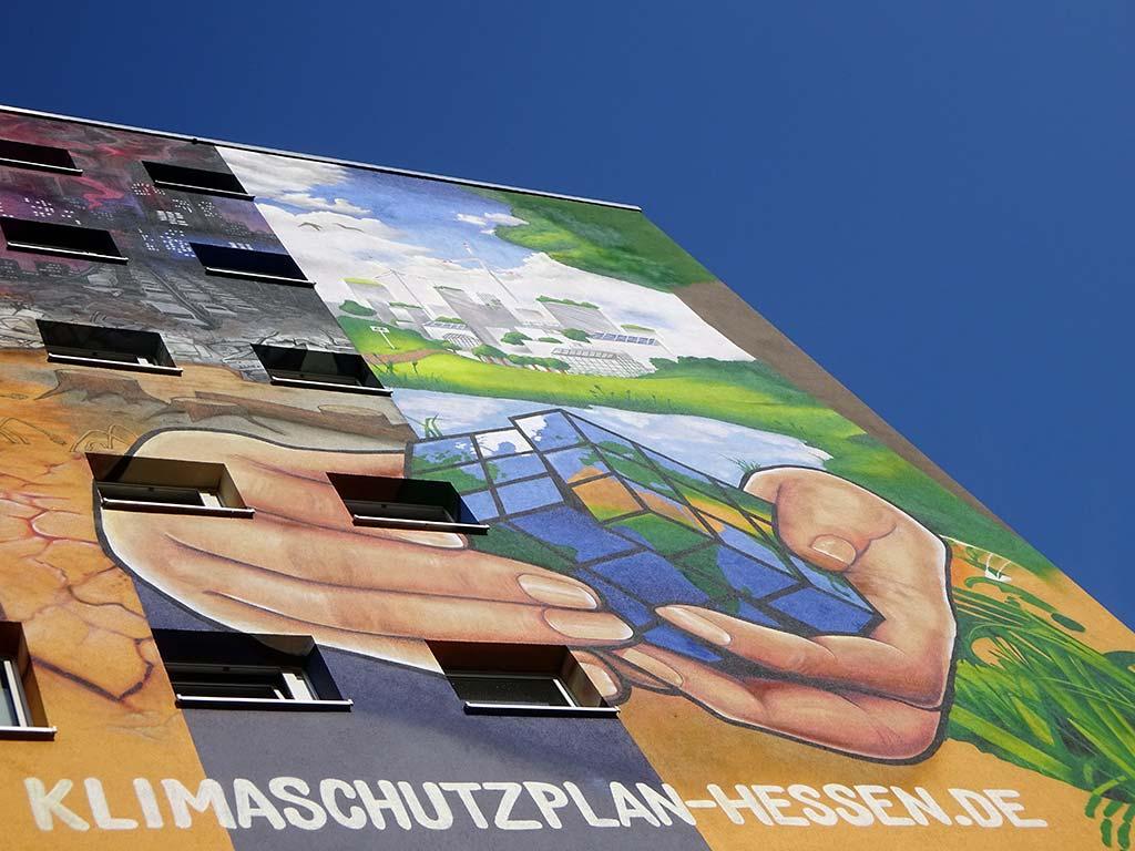 Klima-Graffiti von Cor in Frankfurt