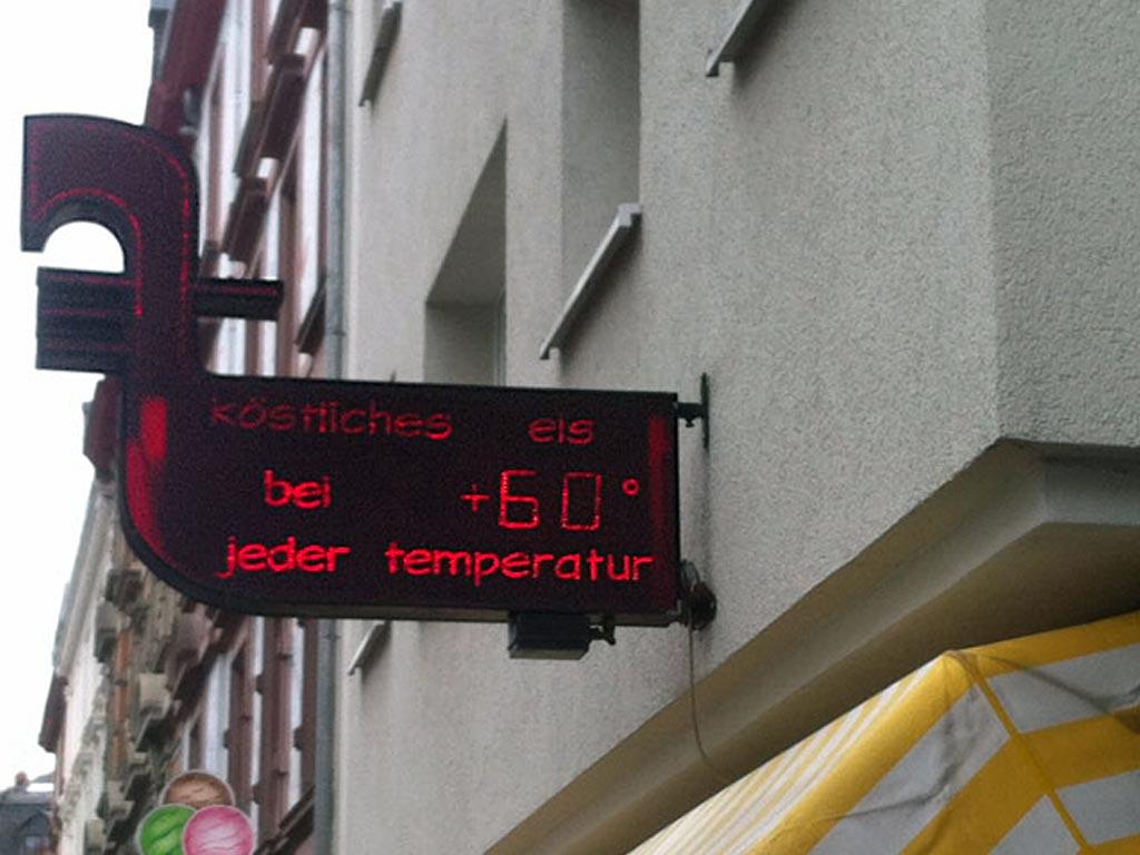 Köstliches Eis bei 60 Grad in Frankfurt