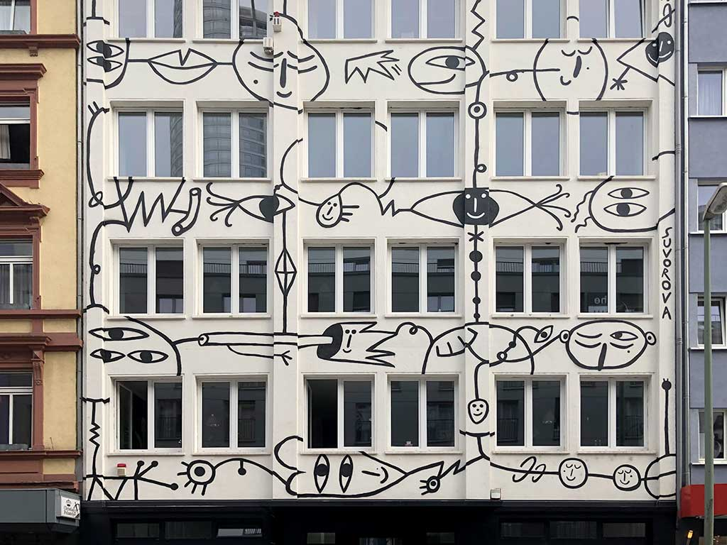 Kristina Suvorova - Mural Art in Frankfurt