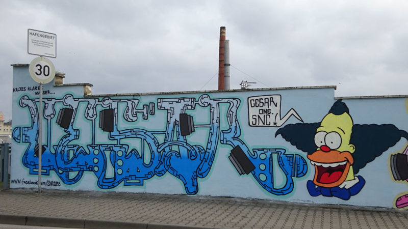 Krust The Clown - Graffiti am Frankfurter Osthafen