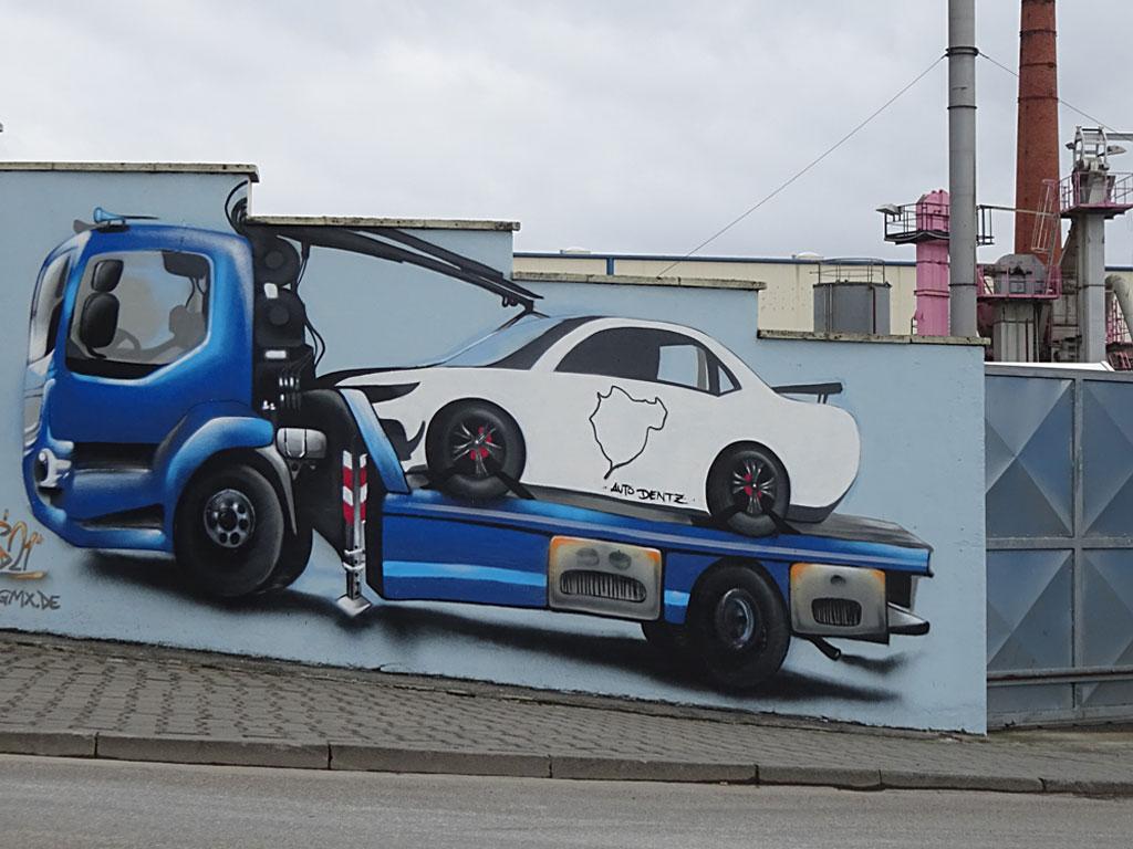 Krust The Clown - Graffiti am Frankfurter Osthafen