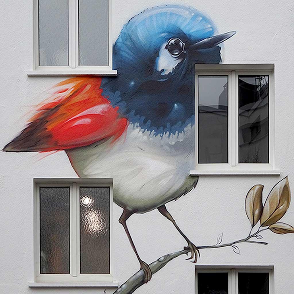 Kunst auf Hauswand in Frankfurt-Hausen