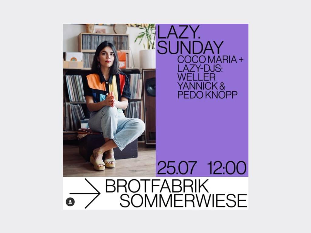 LAZY. Sunday mit Coco Maria auf dem Sommerwiese Open Air Festival in Frankfurt