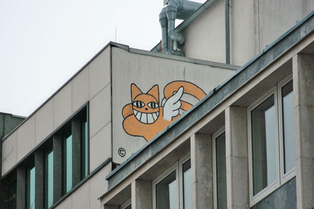 Rooftop-Graffiti von Le Chat