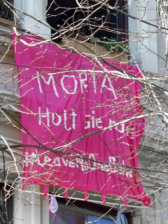 Politischer Protest zu Corona-Zeiten in Frankfurt - #LeaveNoOneBehind