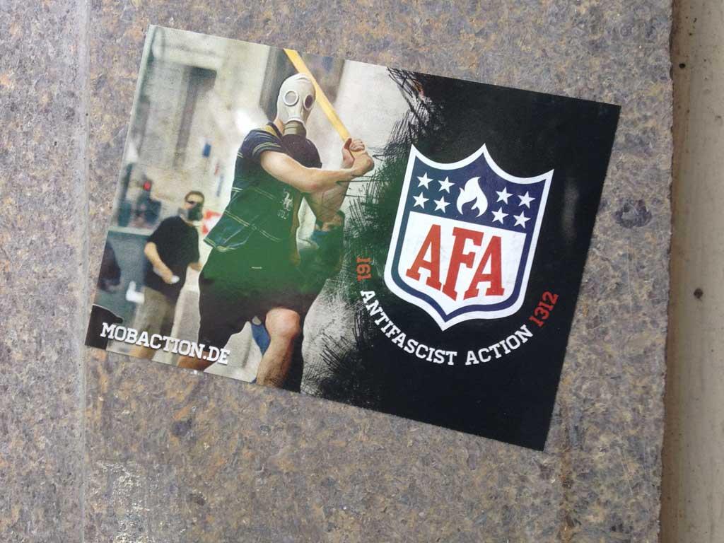 Sticker-Art mit Logo-Abwandlungen: NFL