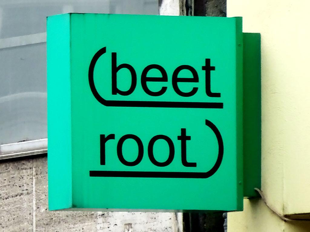 Typografie, Schilder und Logos in Frankfurt - Beet Root