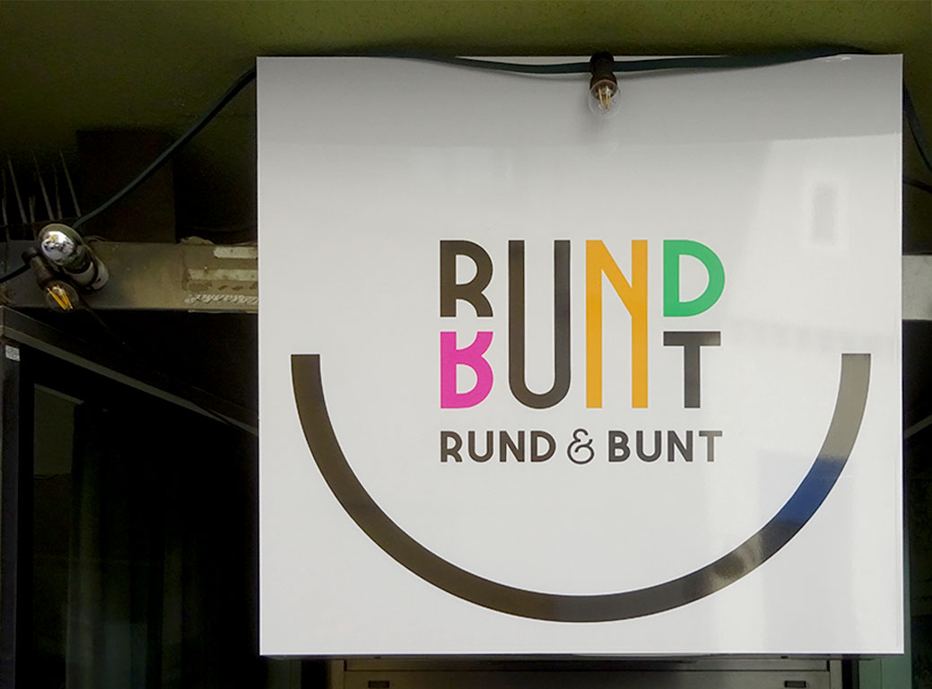 Typografie, Schilder und Logos in Frankfurt - Rund & Bunt