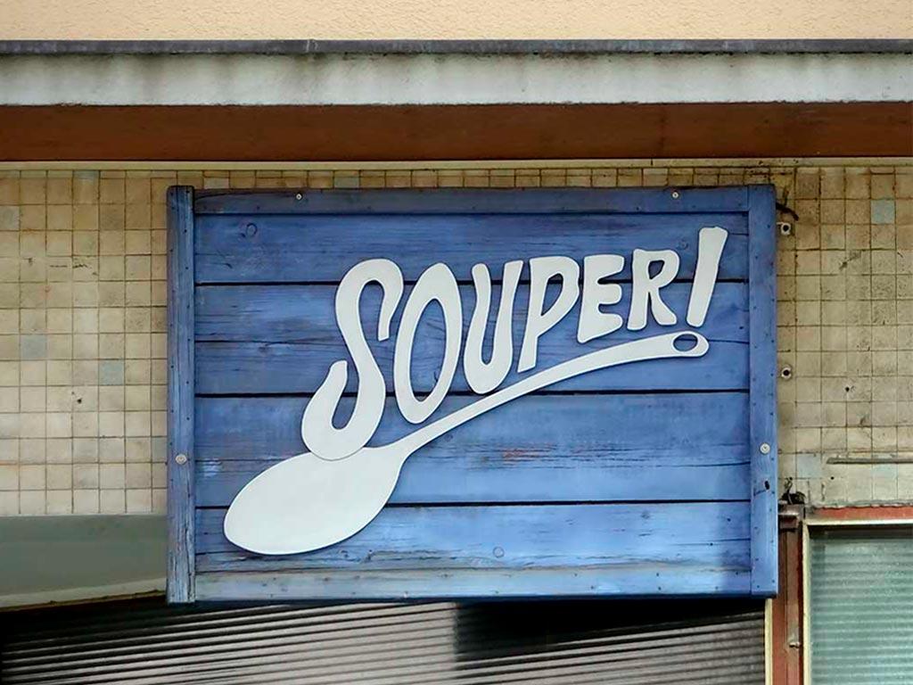 Typografie, Schilder und Logos in Frankfurt - Souper