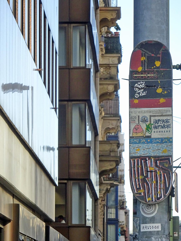 Urban Art mit Skateboard