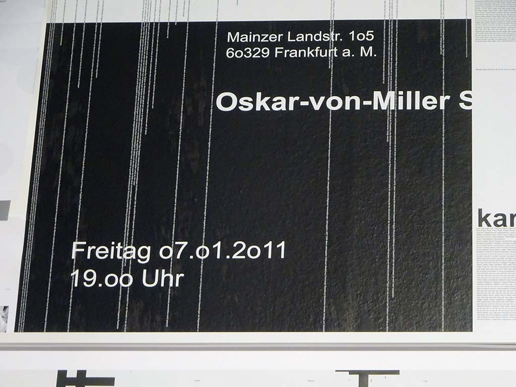MAK Frankfurt - Michael Riedel - Grafik als Ereignis