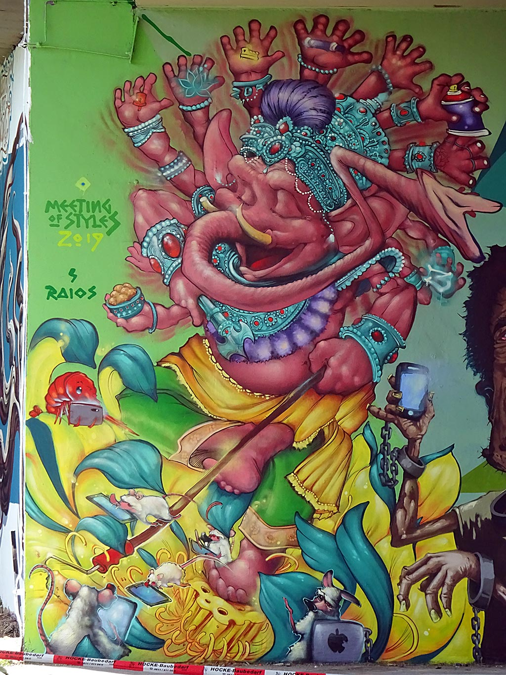 Meeting of Styles 2019 in Wiesbaden - Graffiti by Raios