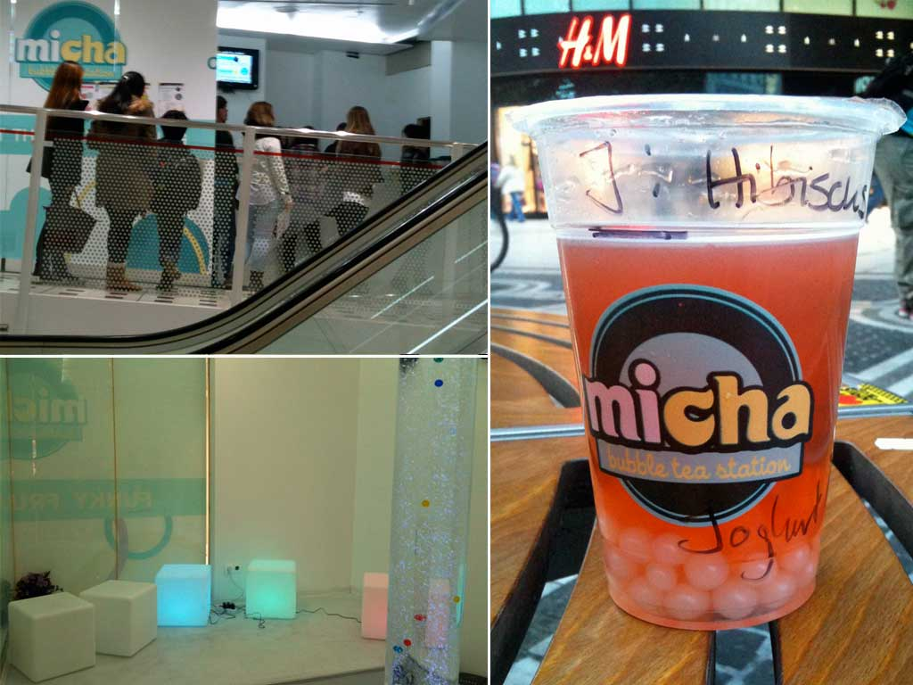 Micha Bubble Tea Station in der Zeilgalerie in Frankfurt