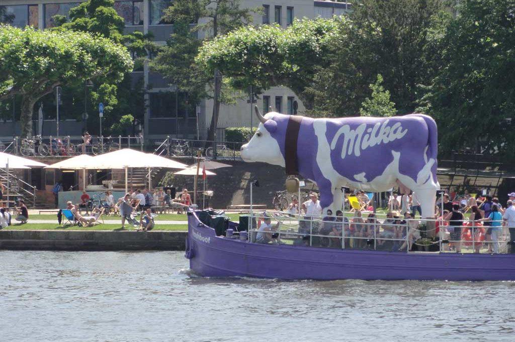 Aktion #muhboot mit der lila Kuh von Milka