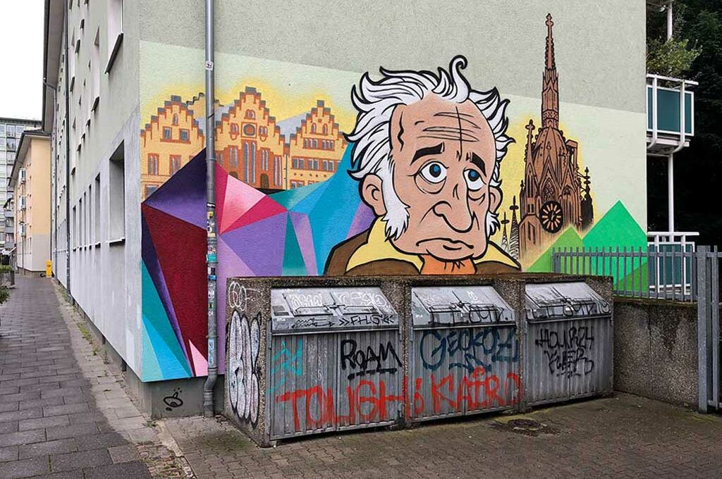 Mural Art mit Goethe in Frankfurt am Main