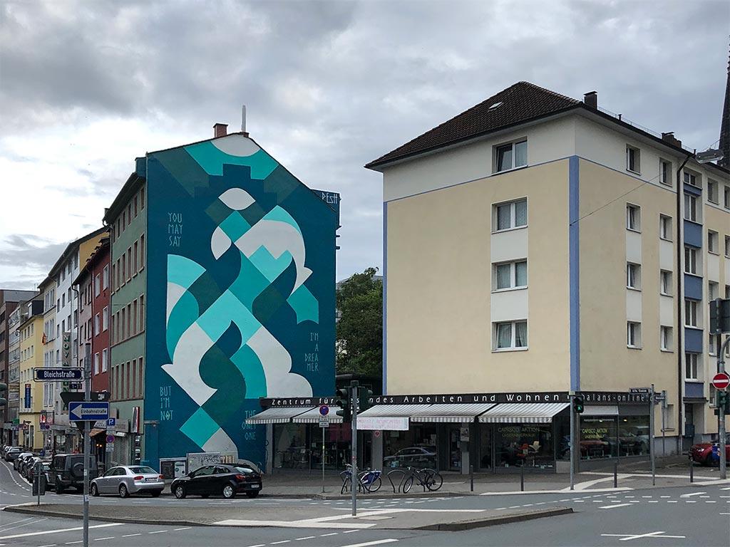 Mural von Streetartist Pesh in Frankfurt