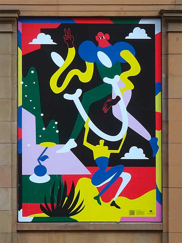 Nadine Kolodziey - AR-Poster bei der Basis in Frankfurt
