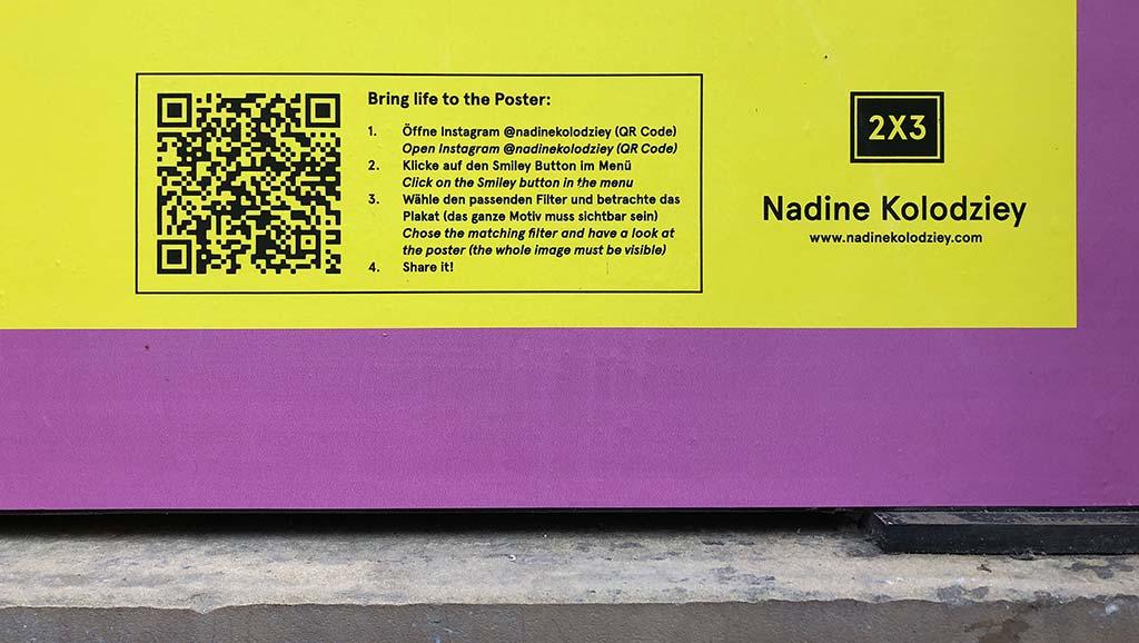 Nadine Kolodziey - QR-Code scannen für Instagram-Filter