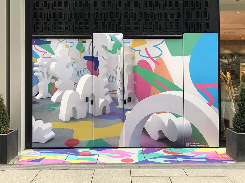 Neue Rothofstraße in Frankfurt mit Selfie-Spot von Nadine Kolodziey