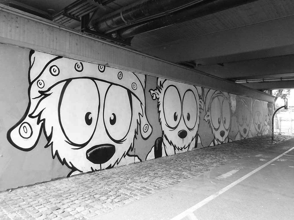 Urban Art an der Friedensbrücke in Frankfurt am Main