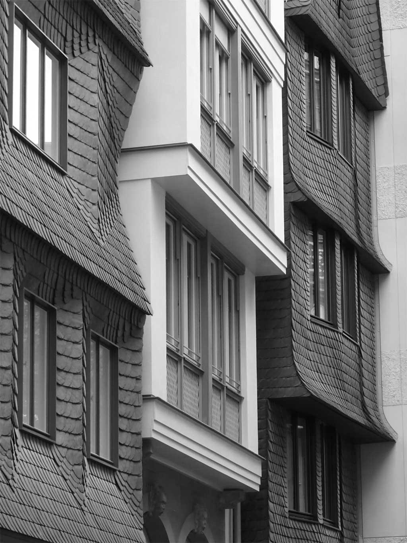 schwarz-weiss-fotografie frankfurt neue altstadt