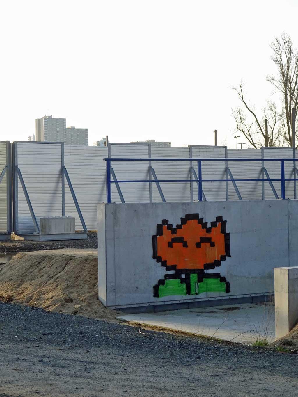 Feuerblumen-Graffiti