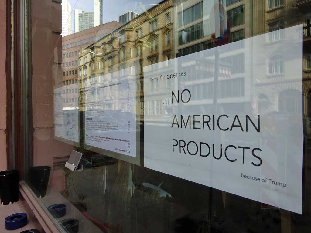 No american products because of Trump