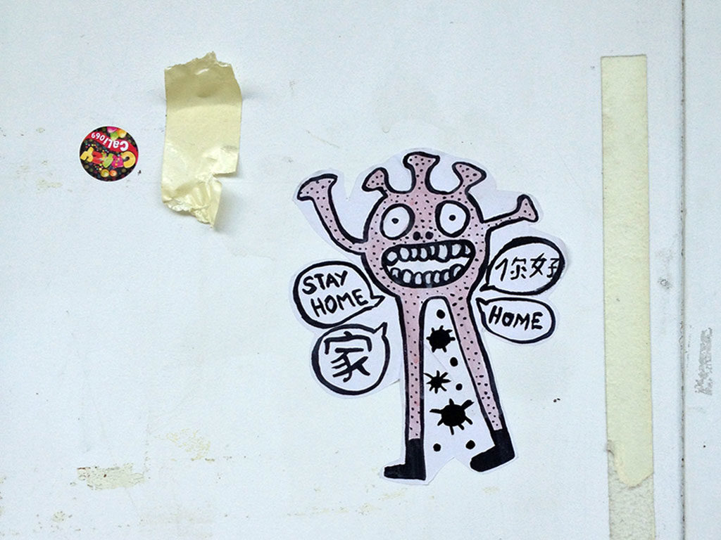 NOVID.LAB - Corona-Virus Streetart in Frankfurt