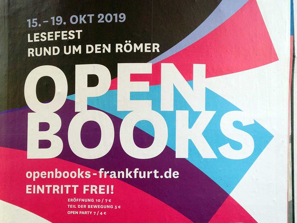 OPEN BOOKS 2019 - Lesefest in Frankfurt