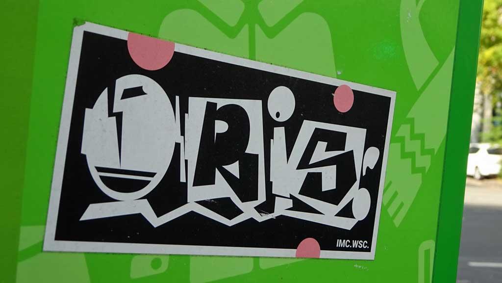Aufkleber mit Oris-Stylewriting