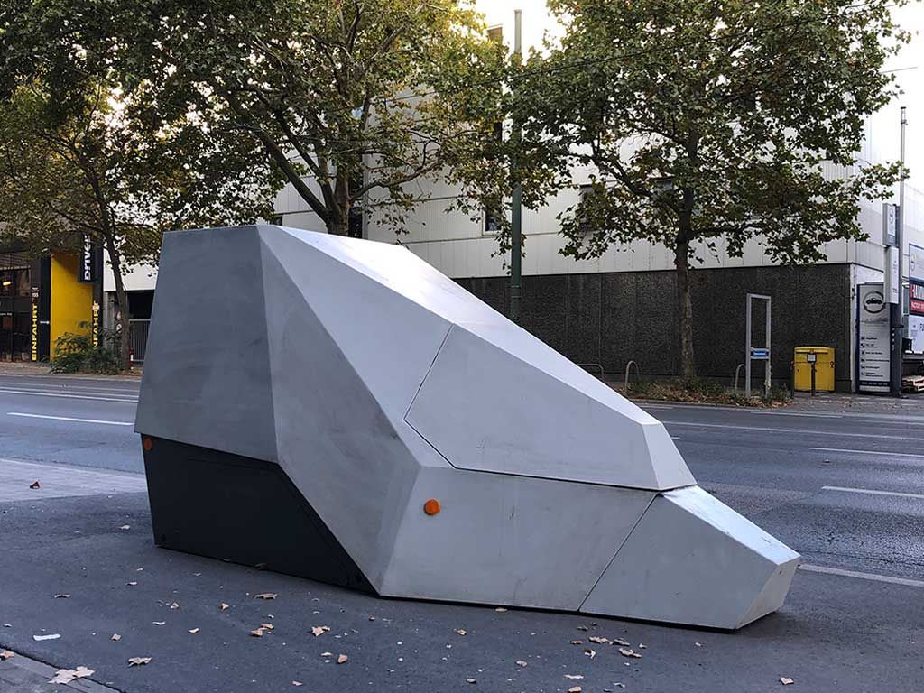 Panzerblitzer in Frankfurt