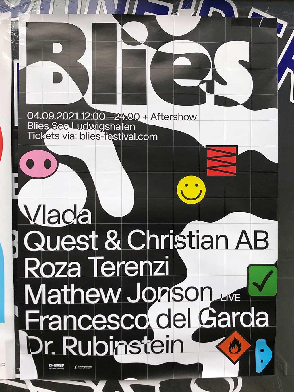 Plakatdesign in Frankfurt - Blies See Ludwigshafen Festival