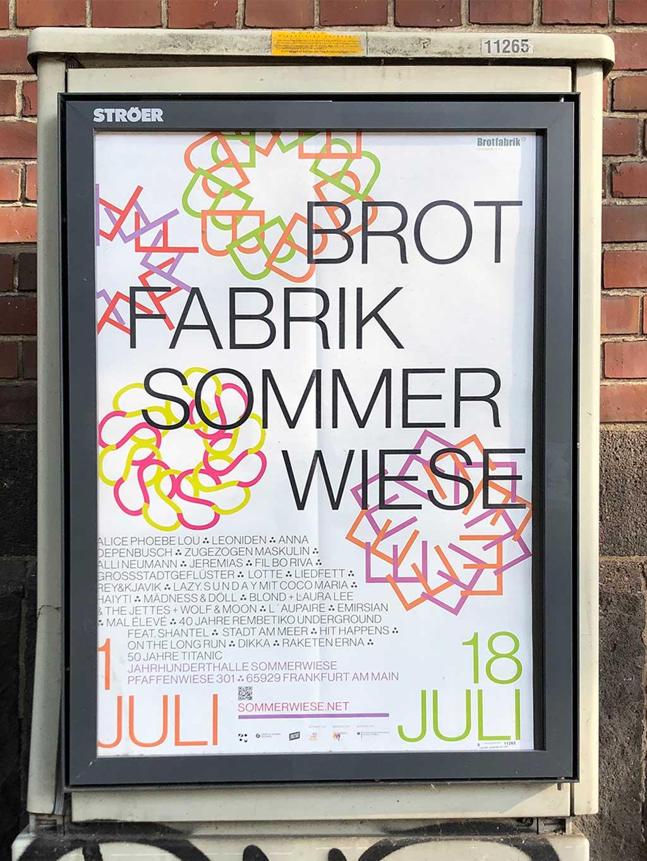 Plakatdesign in Frankfurt - Brotfabrik | Sommerwiese