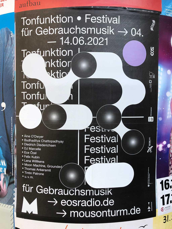 Plakatdesign in Frankfurt - EOS Radio | Tonfunktion Festival