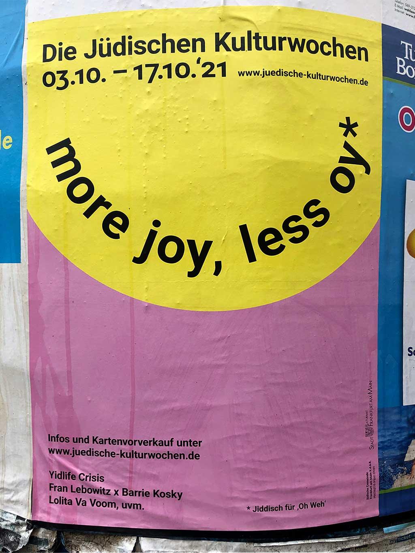 Plakatdesign in Frankfurt - Jüdische Kulturwochen