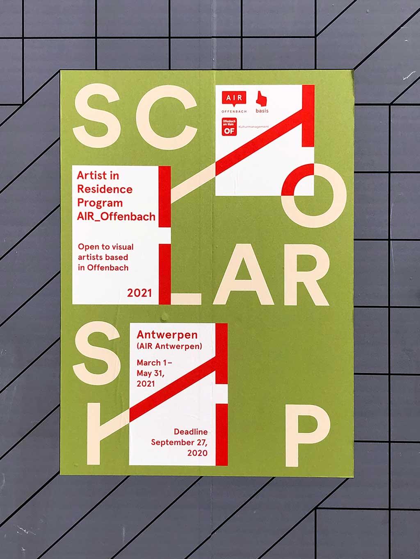 Plakatdesign in Frankfurt - Scholarship Artist in Residence Program