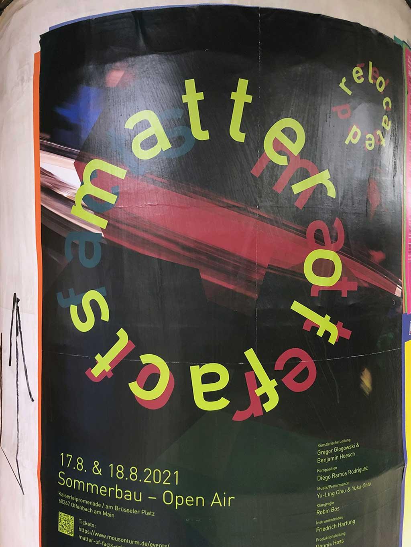 Plakatdesign in Frankfurt - Sommerbau Open Air | Matter of facts