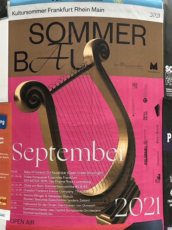 Plakatdesign in Frankfurt - Sommerbau September